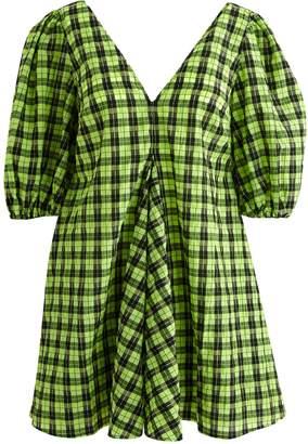 Ganni Short neon dress