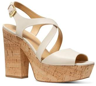 MICHAEL Michael Kors Women's Abbott Leather Platform Wedge Sandals - 100% Exclusive