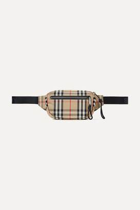 Burberry Checked Canvas Belt Bag - Brown