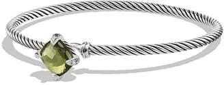 David Yurman Ch'telaine Bracelet with Green Orchid and Diamonds