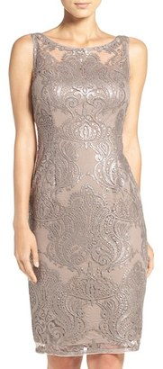 Women's Adrianna Papell Sequin Lace Sheath Dress $169 thestylecure.com