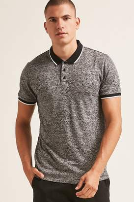 Forever 21 Marled Knit Polo Shirt