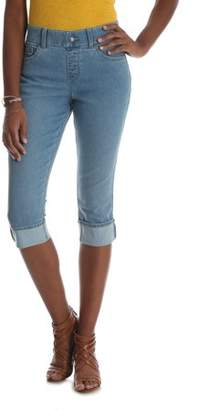 Lee Women's Midrise Pull-On Denim Cuffed Capri Pants