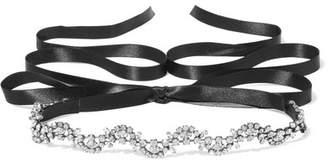 Jennifer Behr - Vine Gunmetal-plated Swarovski Crystal Choker - one size $350 thestylecure.com