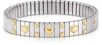 Nomination Amore Stainless Steel w/Golden Heatrs Women's Bracelet