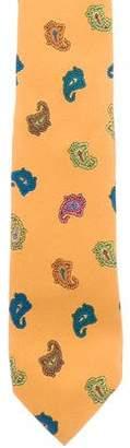 Etro Silk Paisley Print Skinny Tie