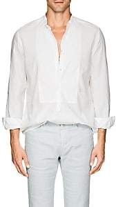 Massimo Alba Men's Cotton-Linen Shirt-White