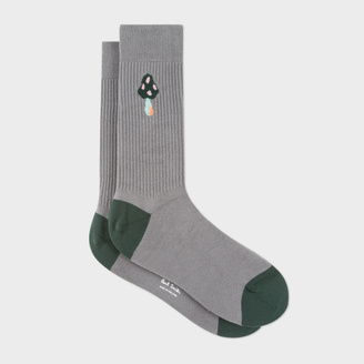 Men's Grey Mushroom Ribbed Socks $30 thestylecure.com