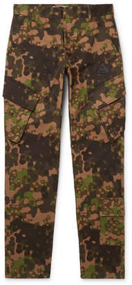 Off-White Off White Slim-Fit Camouflage-Print Cotton-Twill Cargo Trousers