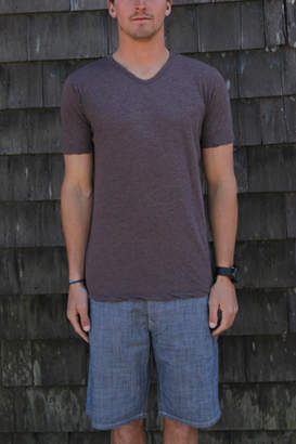 V::room Short Sleeve V neck Tee in Cinnamon