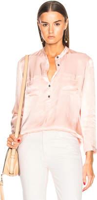 Raquel Allegra Pocket Henley Top