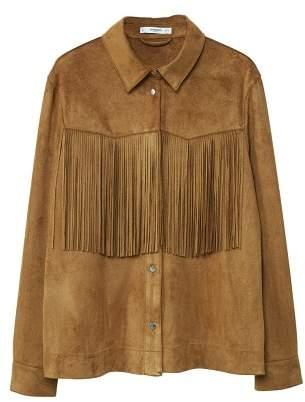 MANGO Fringed jacket