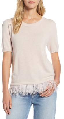 Halogen Feather Hem Sweater