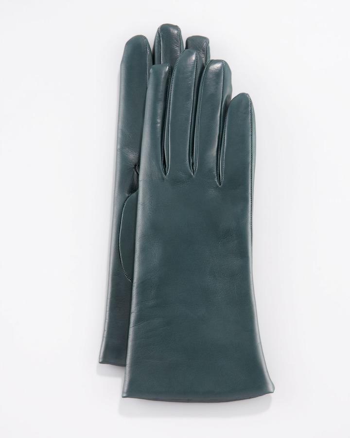 Portolano Two-Button Classic Gloves, Graffiti Green