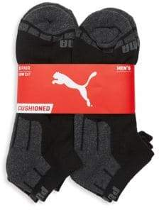 Puma Six-Pack Logo Cotton Socks