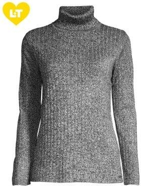 Calvin Klein Marled Ribbed Turtleneck Sweater