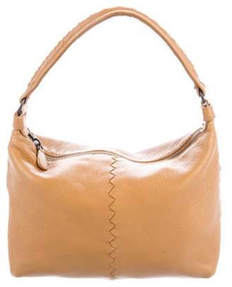 Bottega Veneta Small Intrecciato-Trimmed Hobo Tan Small Intrecciato-Trimmed Hobo