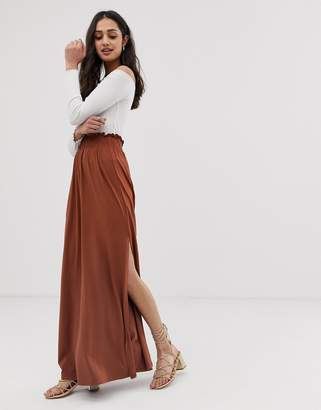 Asos Design DESIGN shirred waist maxi skirt