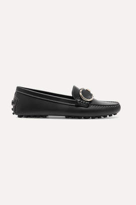 Salvatore Ferragamo Breno Leather Loafers - Black