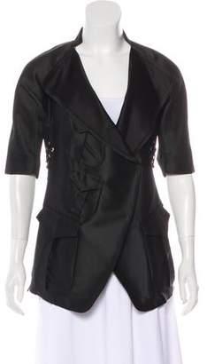 Saint Laurent Short Sleeve Silk-Blend Jacket