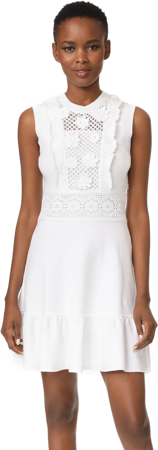 RED Valentino RED Valentino Embroidered Dress