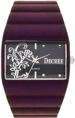JCPenney Decree Womens Floral Dial Bangle Watch