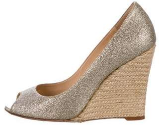 Christian Louboutin Espadrille Wedge Pumps