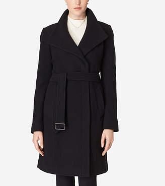 Cole Haan Belted Italian Wool Coat