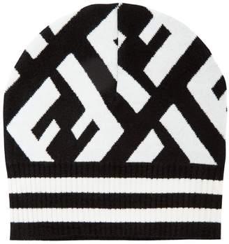 Fendi Macro FF logo beanie hat