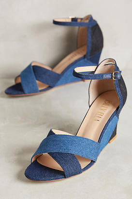 Billy Ella Denim Patchwork Wedges $178 thestylecure.com