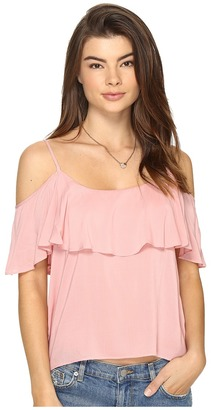 BB Dakota - Delafield Off the Shoulder Tank Top Women's Sleeveless $57 thestylecure.com