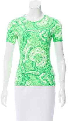 Etro Paisley Print Short Sleeve Top
