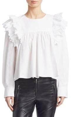 Etoile Isabel Marant Matias Ruffled Cotton Blouse