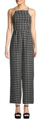 Finders Keepers Checkered Strappy-Back Pantsuit
