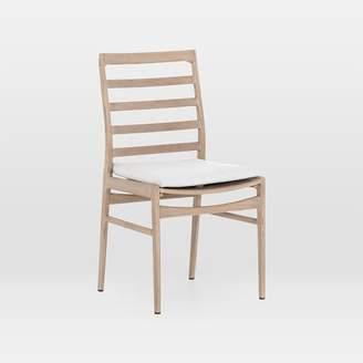 west elm Teak Wood High-Back Outdoor Dining Chair - Brown