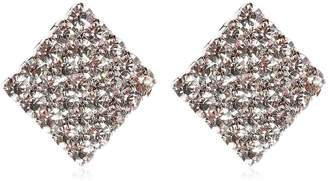 Crystal Square Clip-On Earrings