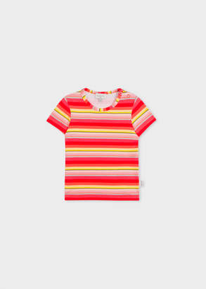 Paul Smith Baby Girls' Multi-Coloured Stripe T-Shirt