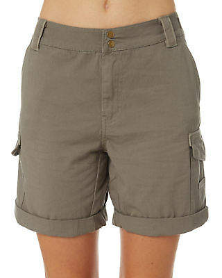 Swell New Women's Timeless Cargo Short Cotton Fitted Green