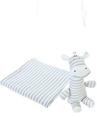 Under the Nile 2-Piece Stripe Swaddle Blanket & Stuffed Animal Set