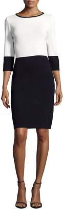 St. John Women's Santana Knit Two-Tone Sheath Dress