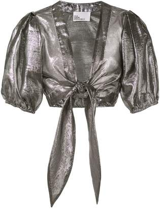 Lisa Marie Fernandez cropped metallic top