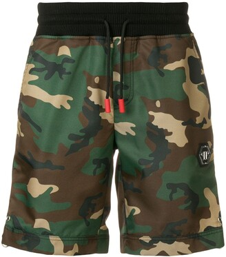 Philipp Plein camouflage print shorts