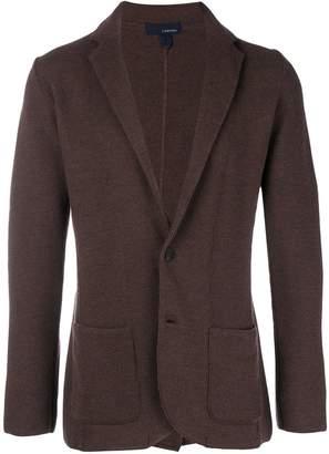Lardini wool blazer cardigan