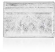 Balenciaga Women's Bazar Arena Leather Card Case - Silver