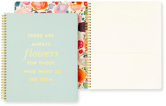 Kate Spade Flowers Spiral Notebook - Blue