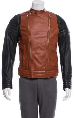 Just Cavalli Colorblock Leather Jacket