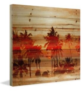Parvez Taj Crimson Palms Print