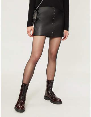 Pinko Simone leather mini skirt