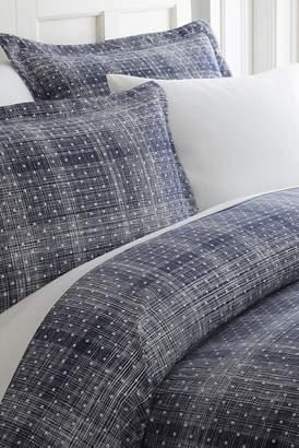 IENJOY HOME Home Spun Premium Ultra Soft Polka Dot Pattern 2-Piece Duvet Cover Twin Set - Navy