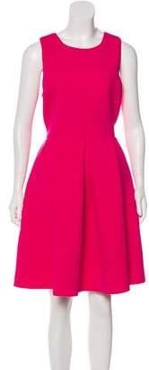 Tibi Neoprene Pleated Dress